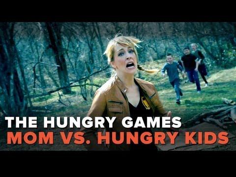 Hunger Games Parody - Mom vs. Hungry Kids! - Pretty Darn Funny