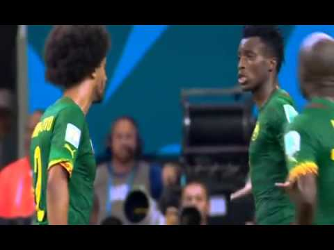 Fight between Cameroon players in  Croatia match - World Cup 2014