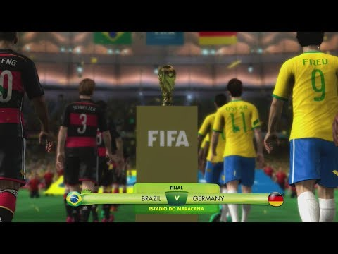 Simulation done on Legendary Difficulty. World Cup Final Gameplay of Brazil vs Germany. 2014 FIFA World Cup Brazil Video Game. Check out my channel for more 2014 FIFA World Cup content!