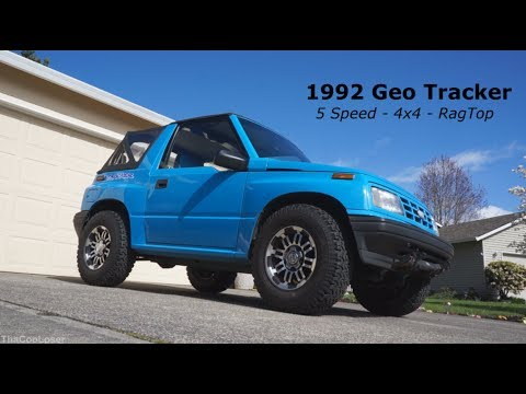 1992 Geo Tracker walk around 5 speed 4x4 Rag Top