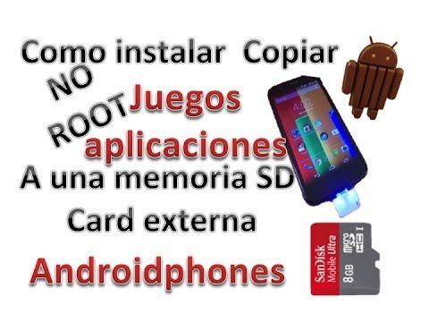Moto G: Como instalar. Copiar  juegos. Aplicaciones a memoria SD externa (NO ROOT) Androidphones