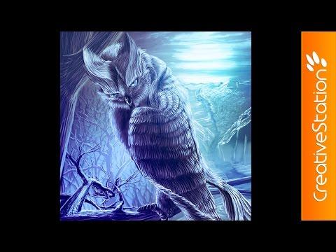 Old Owl - Speed Painting (#Photoshop)   CreativeStation