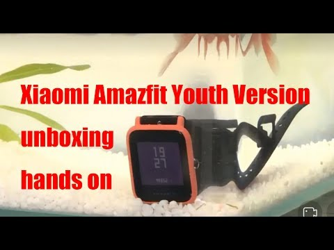 Xiaomi Huami Amazfit Smartwatch Youth Version hands on and unboxing: 4 months standby time #SamiLuo