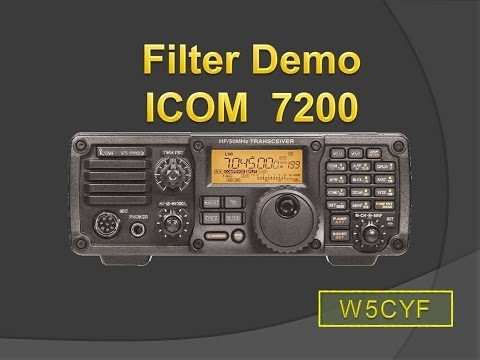 Using ICOM IC-7200 Filters