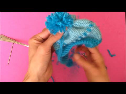 Cómo tejer Gorro de niño con dos agujas