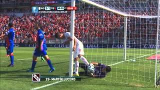 Gol de Lucero. Independiente 2 Tigre 1.Fecha 13.Torneo Primera División 2014.FPT