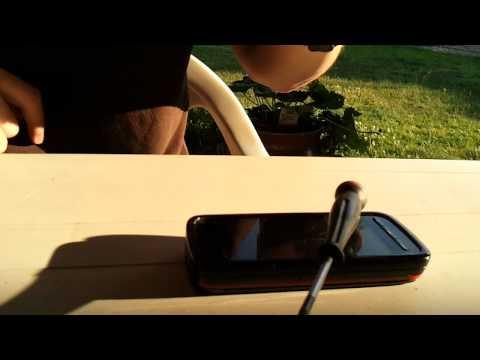 Nokia 5800 Express music  Scratch test