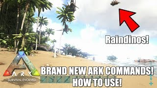NEW CRAZY ARK ADMIN COMMANDS! (How to Use) - RAINDINOS!! - Give Weapon/Armor Sets and More!
