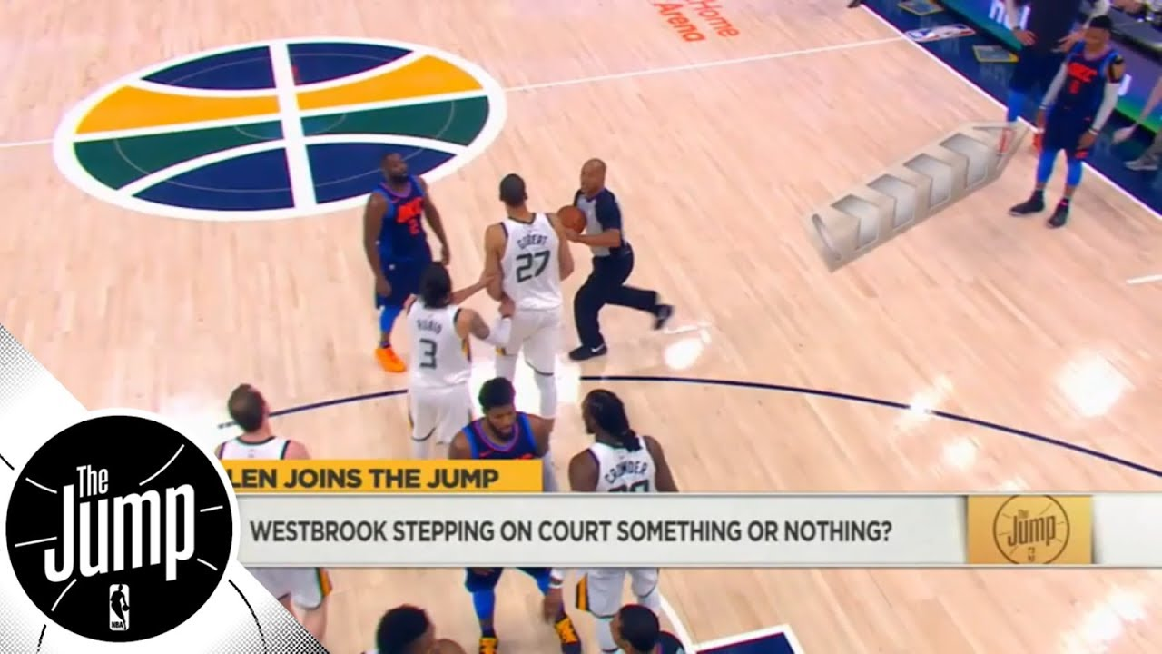 Should Russell Westbrook get suspended for going onto court in Game 4 of Thunder vs. Jazz? | ESPN
