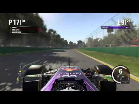 F1 2015 Gameplay Career Mode - Daniel Ricciardo (Part 1 - Australian Grand Prix)