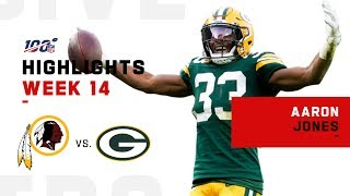 Aaron Jones Wrecks Washington w/ 192 Total Yds | NFL 2019 Highlights