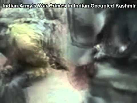 Indian Army atrocities in Kashmir.. Killing unarmed survivor of Indian bombing