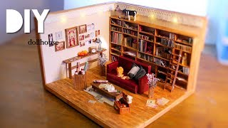 How to build a dollhouse with a bookshelf with items from 100 Yen store