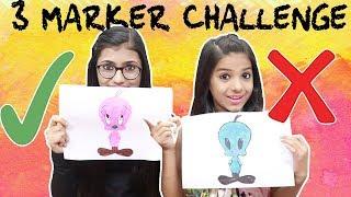 3 MARKER CHALLENGE | SAMREEN ALI