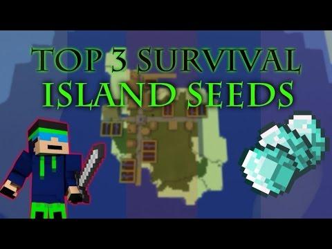 MCPE 0.9.5 - Top 3 Survival Island Seeds With Diamonds