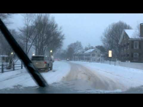 Drive home at 5 through Woodstock, VT Feb 8 2013 #Nemo