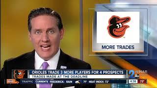 Orioles trade Schoop, Gausman and O'Day