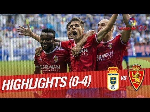 Resumen de Real Oviedo vs Real Zaragoza (0-4)