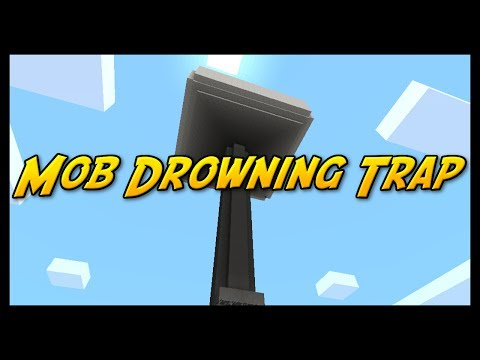 MOB DROWNING TRAP - Minecraft Pocket Edition - Who Wants This?