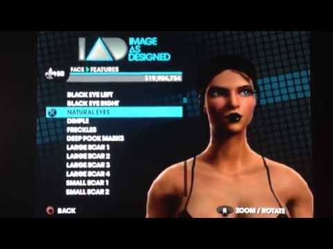 Saints Row The Third: Female Character Creation.