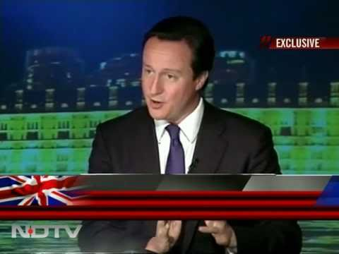 British PM David Cameron speaks to NDTV