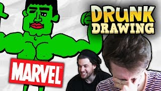DRUNK DRAWING MARVEL
