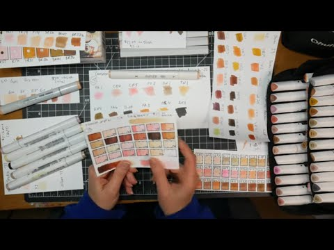 Comparing 8 Skin-Tone Alcohol Marker Sets // Which is Best?