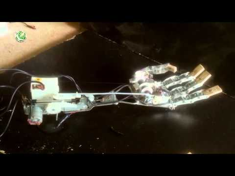 Robotic Hand From Old CD Drives Motors And Gears