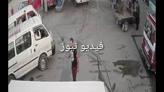 آخر فيديو لفتاة العياط والسائق المجني عليه في إحدى محطات الوقود