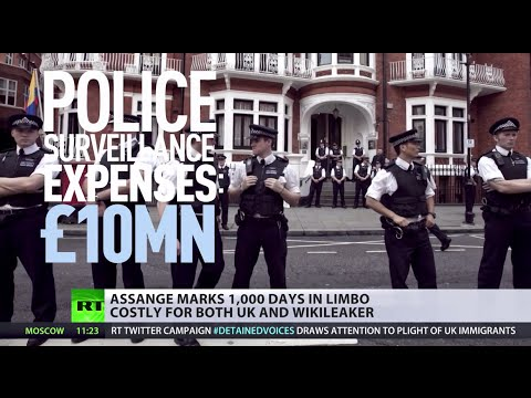 Assange V. Authorities: 1,000 days in limbo, 10mn spent on surveillance