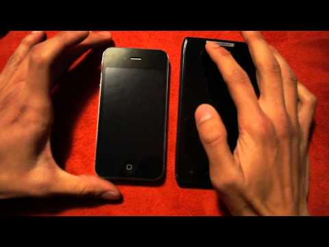 iPhone 4s vs Motorola Droid Razr Comparativa en Español Parte 1