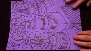 ASMR Purple Doodle (Hi quality audio, ASMR drawing trigger sounds, no speaking, head tingles)