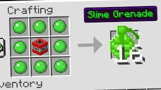 Using SLIME to make SECRET MINECRAFT ITEMS...