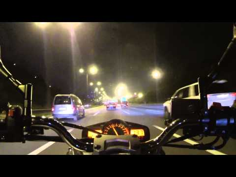 Suzuki Gsr 600 Nightride From Asia to Europe Freeway Part 2