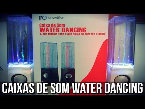 Unboxing - Caixas de som Newdrive - Water Dancing + Teste PT-BR !!!