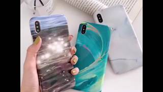 Gradient Wave Marble Pattern Case For iPhone XS XR X XS MAX 6 6S 7 8 Plus