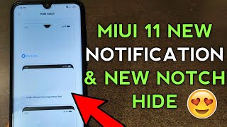 MIUI 11 NEW SETTINGS & NEW HIDE NOTCH   NOTIFICATION PANEL   MIUI 11 NEW FEATURES