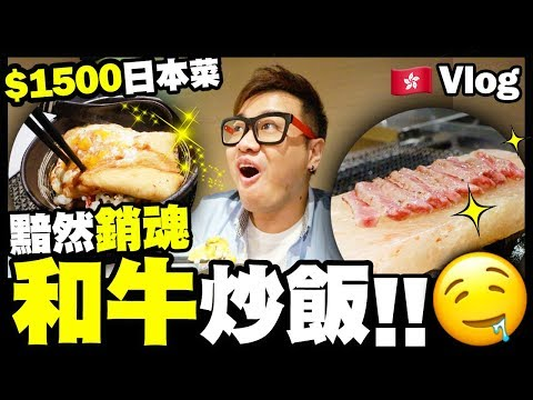 【Vlog】好食嗎?$1500蚊日本菜..黯然銷魂和牛炒飯 w/ 屎嫂 Billy Kent