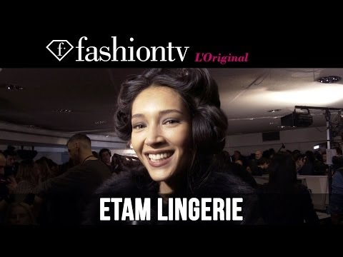 Natalia Vodianova at Etam Lingerie Fall/Winter 2014-15 Backstage | FashionTV
