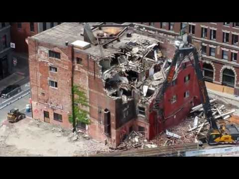 Twelve Minutes of Controlled Demolition in Boston MA