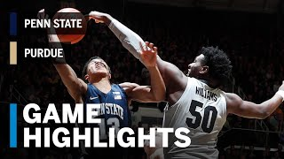 Highlights: Penn State at Purdue | Big Ten Basketball