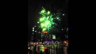 Riverfire 2012 Fireworks in Slow Motion 60fps 11