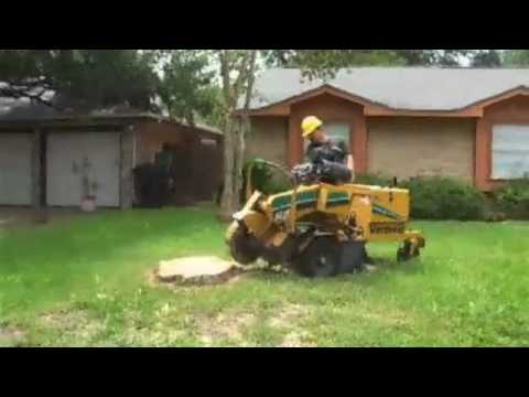 Stump Grinding by Arbor Tree Services Houston, TX Tel: (713) 692-4714 Video