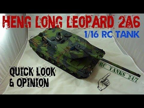Heng Long Leopard 2A6 1/16 RC Tank - Up Close & Quick Look