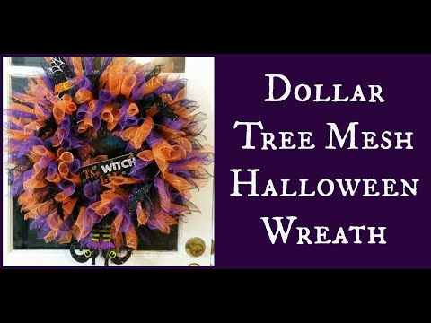 Dollar Tree Mesh Halloween Wreath
