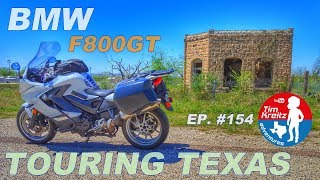 BMW F800GT Motorcycle Touring Across Texas