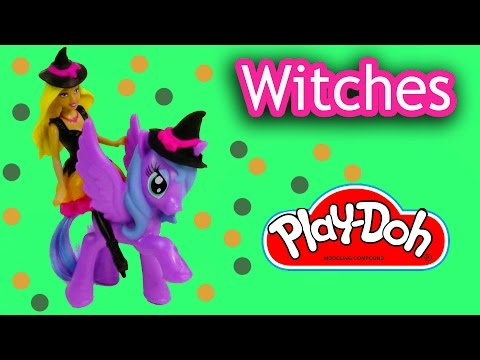 MLP Mini Barbie Doll Playdoh Witches My Little Pony Princess Luna Halloween Trick Or Treat Costume