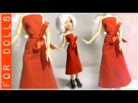 Как сделать платье кукле из ткани