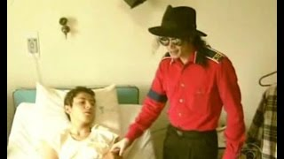 Michael Jackson goes to the hospital to visit Márcio Alberto de Paula. ( Sub Ita & Eng).
