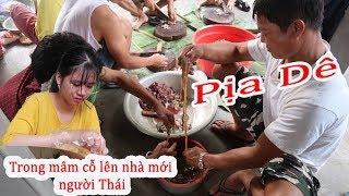 Món Pịa Dê huyền thoại ở nhà em Chân | Lễ lên nhà mới nhà sàn người Thái ( Trắng )